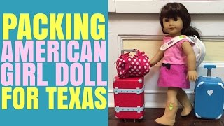Packing for American Girl Doll Samantha