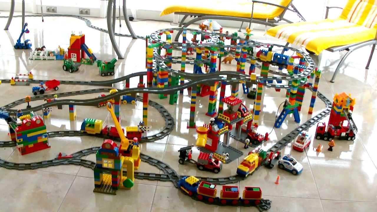 hd xxl lego duplo train amazing big city eisenbahn. Black Bedroom Furniture Sets. Home Design Ideas
