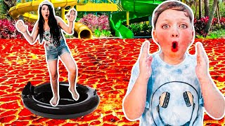 The POOL is LAVA for 24 HOURS Challenge!!