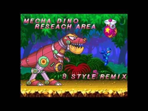 mega man 7 slash man stage mecha dino research area mm8 style