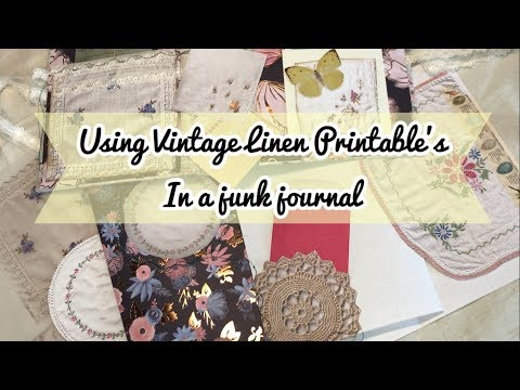 Vintage Linen Printable Ideas For Junk Journals