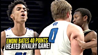 Emoni Bates Drops 40 Points in HEATED RIVALRY Game!! Lincoln vs Ypsilanti OVERTIME THRILLER!!