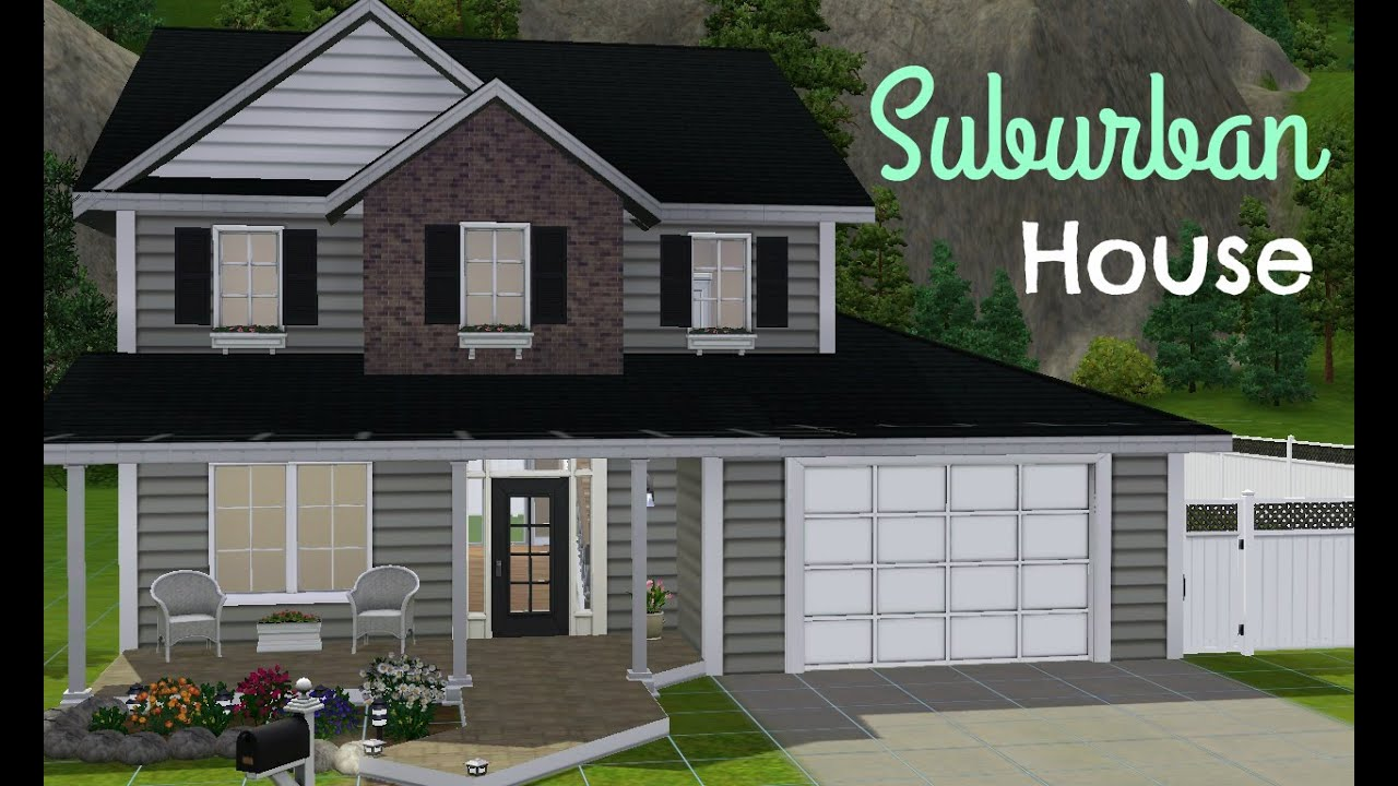 The sims 3 house building suburban house youtube for Classic house sims 3