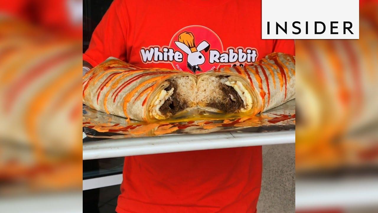 White Rabbit Food Truck Burrito