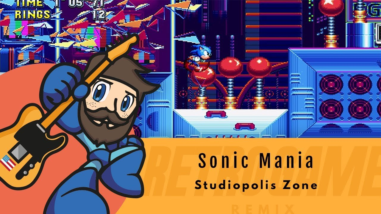 Sonic Mania - Studiopolis Zone | Retro Game Remix :: Let's