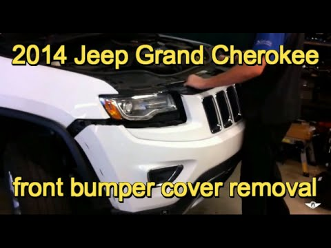 2014 Jeep Grand Cherokee Front Grill And Bumper Cover Replacement Youtube