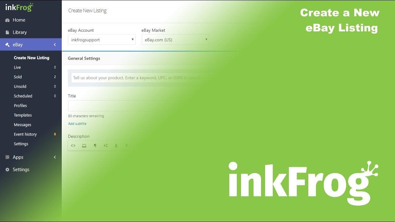 Create A New Ebay Listing Inkfrog Customer Care
