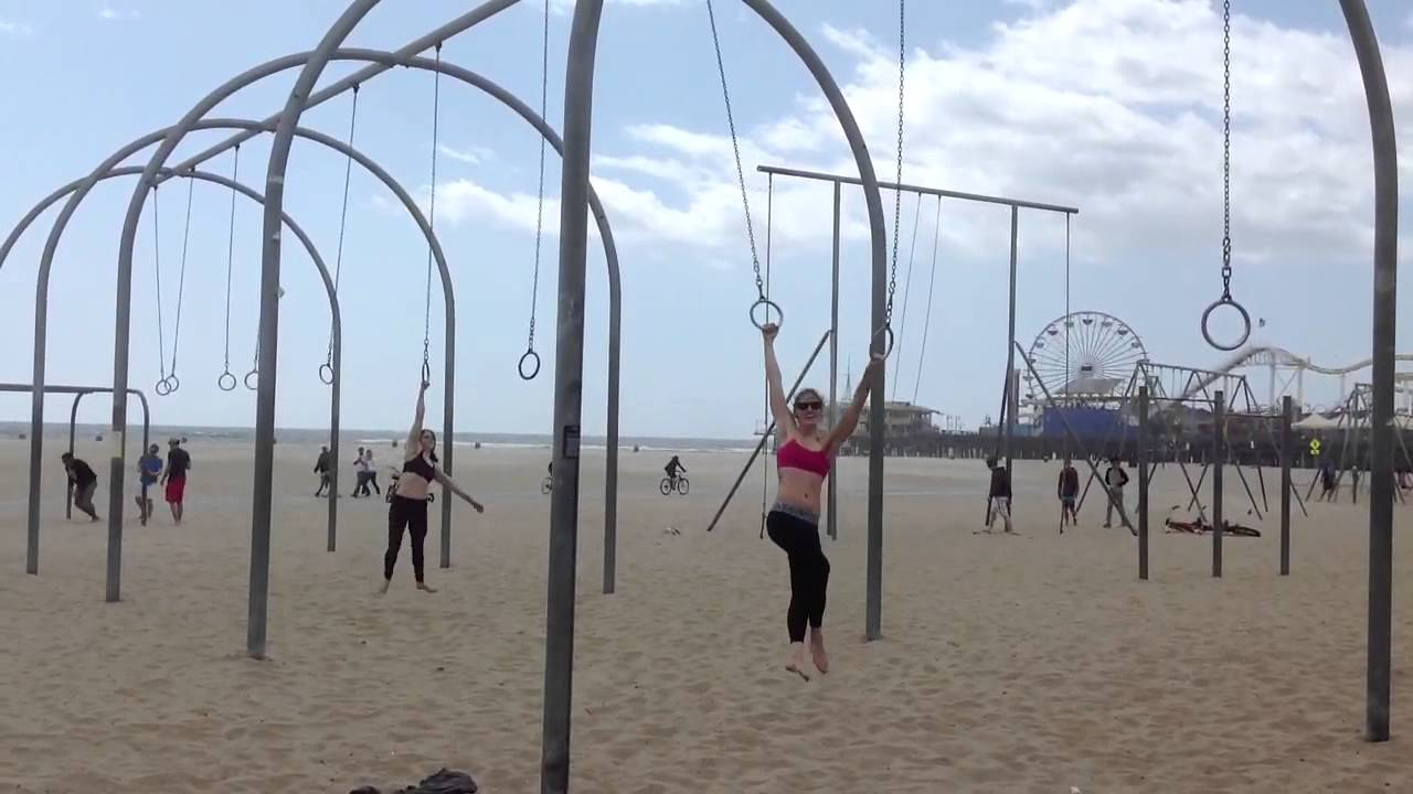 Image result for girl on muscle beach rings