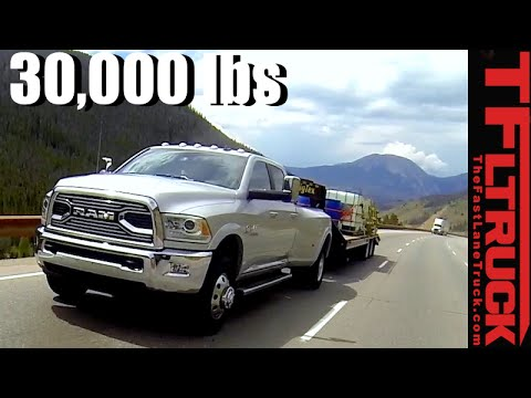 2016 Ram 3500 HD Takes on the Extreme Super IKE Gauntlet Review Towing 30,000 Lbs