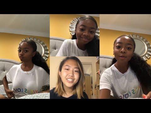Skai Jackson  Instagram Live Stream  25 October 2018