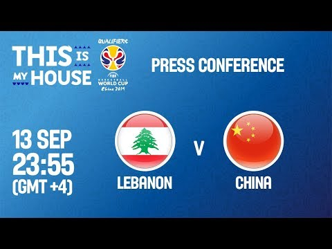 Lebanon v China - Press Conference - FIBA Basketball World Cup 2019 Asian Qualifiers
