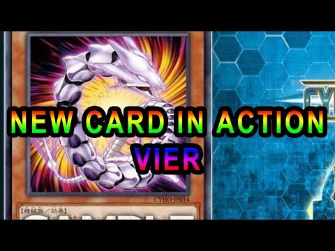 YUGIOH GAMEPLAY OF NEW CARD IN ACTION VIER!  CYBER DRAGON COMBO EXTENDER!