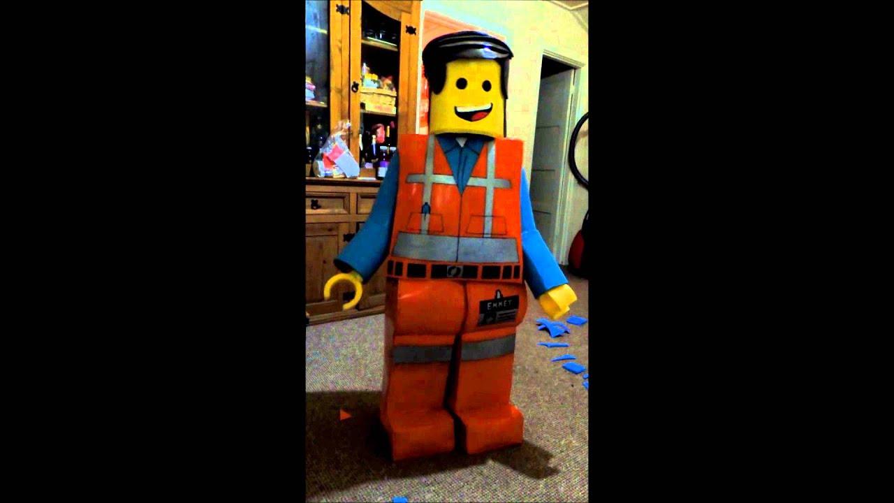 Home made Lego movie Emmet costume D & Home made Lego movie Emmet costume :D - YouTube