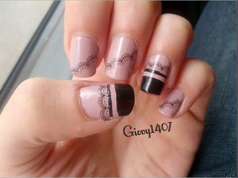 simply and elegant nail art  semplice ed elegante