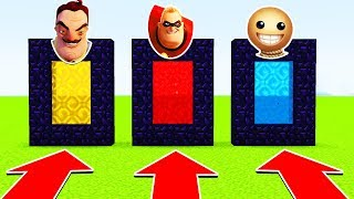 DO NOT CHOOSE THE WRONG PORTAL (HELLO NEIGHBOUR, INCREDIBLES 2 , KICK THE BUDDY) (PS4/XboxOne/MCPE)