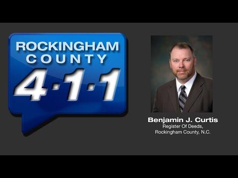 Episode #14 - Rockingham County 4-1-1 - Guest: Benjamin J. Curtis, Register Of Deeds