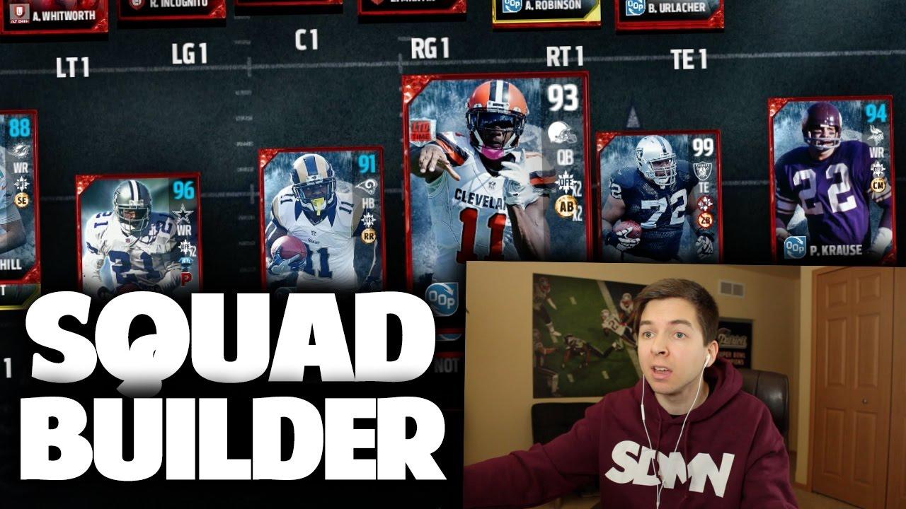Madden Squad Builder