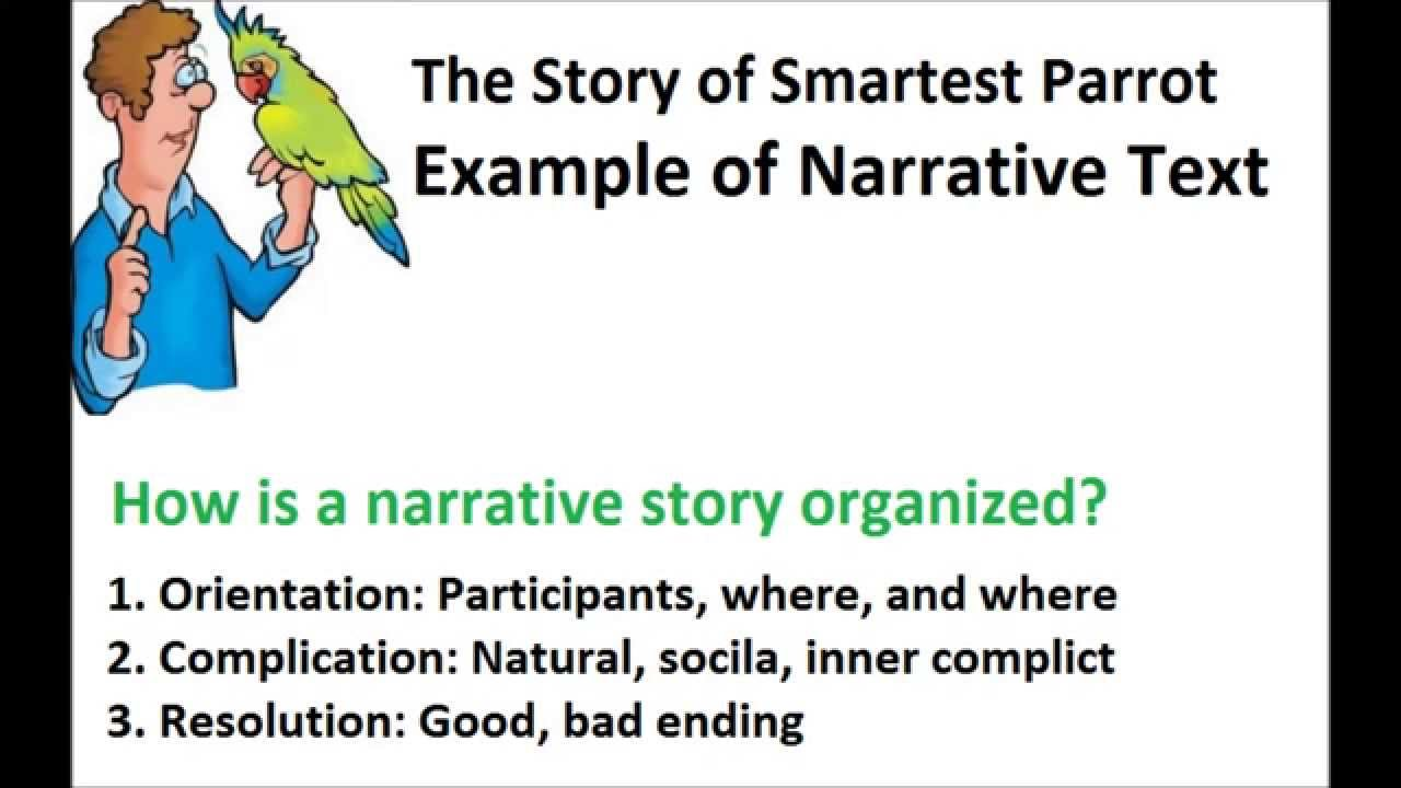 Example Of Narrative Text In The Smartest Parrot Youtube