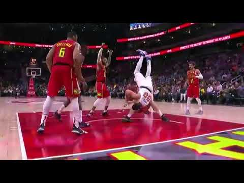 Miles Plumlee Almost KILLS Enes Kanter!! Knicks vs Hawks
