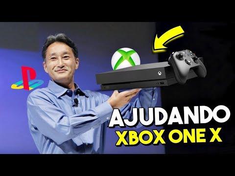 SONY ESTÁ AJUDANDO A MICROSOFT A VENDER O XBOX ONE X