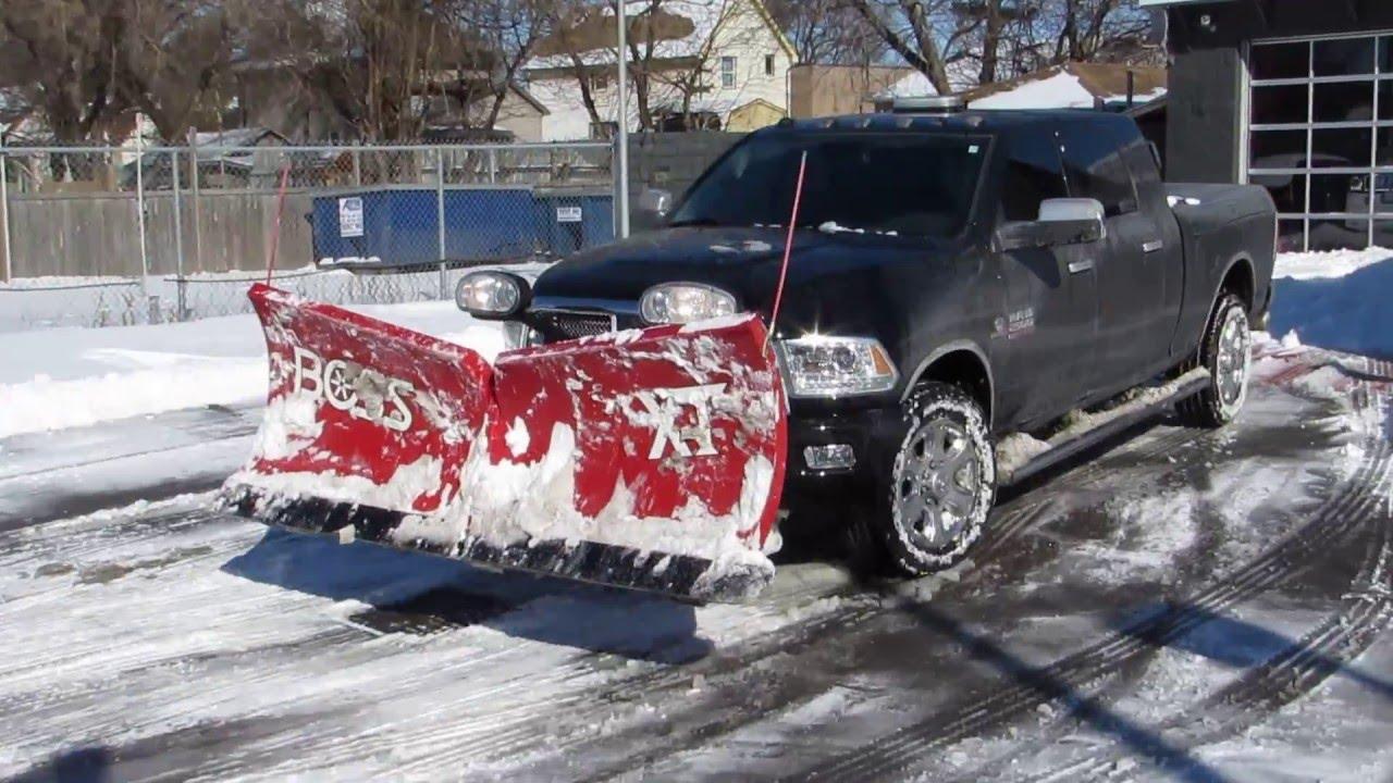 2015 Dodge Ram 2500 Cummins Diesel Snow Plowing Boss V
