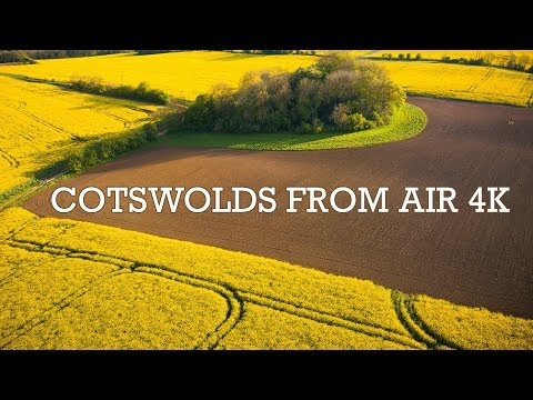 Cotswolds From Air 4K