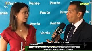 Venezuela- María Corina Machado se pronuncia sobre el diálogo en República Dominicana -VPItv