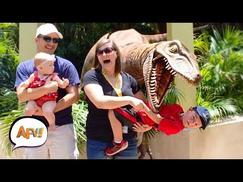 Watch Them Scream! Dinosaur Edition! | Try Not to Laugh | AFV 2019