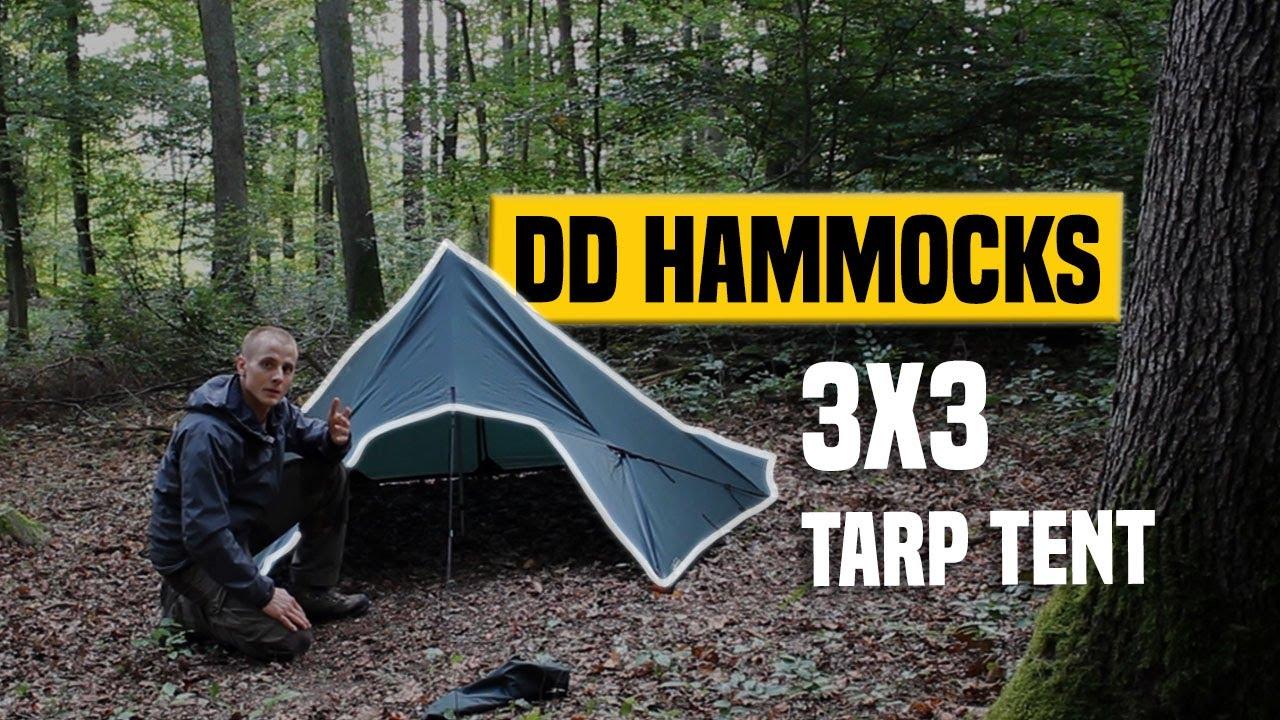 DD Hammocks Tarp 3x3 Review ZeltTent Aufbau Setup Gear