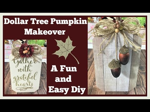 Dollar Tree Pumpkin Makeover 🎃 Super easy Diy Fall decor