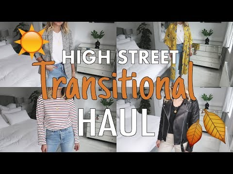 Transitional Summer - Autumn High Street Haul + Try On | Topshop, ASOS, & Other Stories