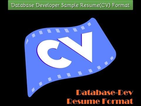 Database Developer Sample Resume(CV) Format
