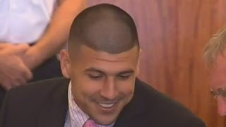 What was Aaron Hernandez saying with his body language?