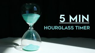 5 minutes Timer - hourglass with digital timer, ASMR sand sound, no music