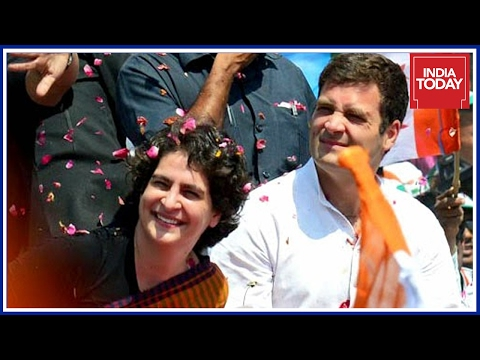 Priyanka Gandhi & Rahul Gandhi Attend Mega Congress Rally In Raebareli