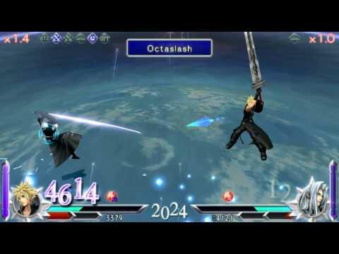 [Dissidia 012] Cloud vs Sephiroth (HD 60FPS)