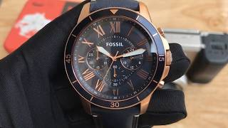 Xship.vn: Fossil FS5237 Men's 44mm Grant Sport Chronograph Watch with Leather Strap