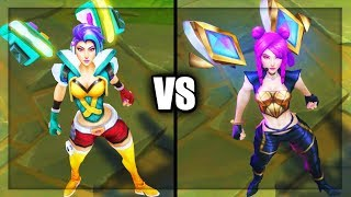 Arcade Kai'Sa vs K/DA Kai'Sa Epic Skins Comparison (League of Legends)