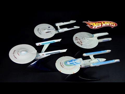 Hot Wheels Star Trek Starships Collection USS Enterprise 1701 Excelsior Klingon