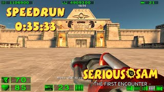 Serious Sam: The First Encounter - SpeedRun - 0:35:33