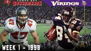 Randy Moss' FIRST Game! (Buccaneers vs. Vikings, 1998)
