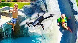 EPIC SWIMMING POOL DRONE SHOT TRICKS!