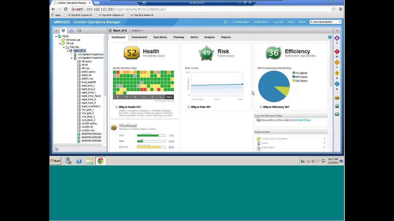 VMware vCenter Ops: Dashboard & Settings, Part 1 of 2