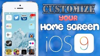 Customize your iOS 9 - 9.2 Homescreen [like GridLock] (no jailbreak) - iPhone/iPod/iPad