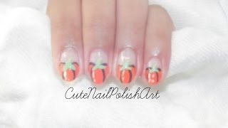 Halloween Pumpkin Nails | Cutenailpolishart
