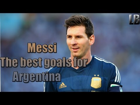 Lionel Messi - The best goals for Argentina!!!