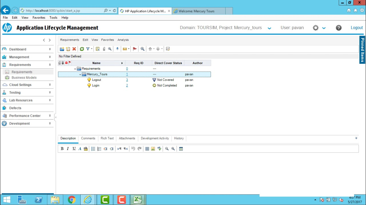 HP ALM - Importing Requirements from Excel