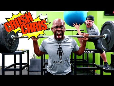 'CRUSH CHRIS' INSANE WORKOUT CHALLENGE FT JUSTDUSTIN | THE RENTS