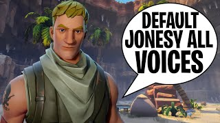 All Fortnite Default Skin Survivalist Jonesy's Voice Line Acting STW/BR