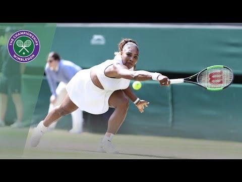 Serena Williams vs Barbora Strycova Wimbledon 2019 semi-final highlights